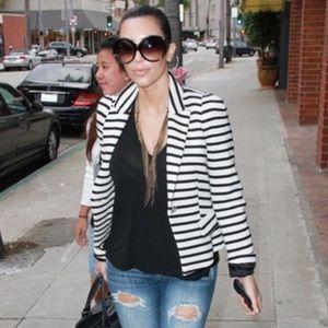 George Brand Black and white stripe blazer